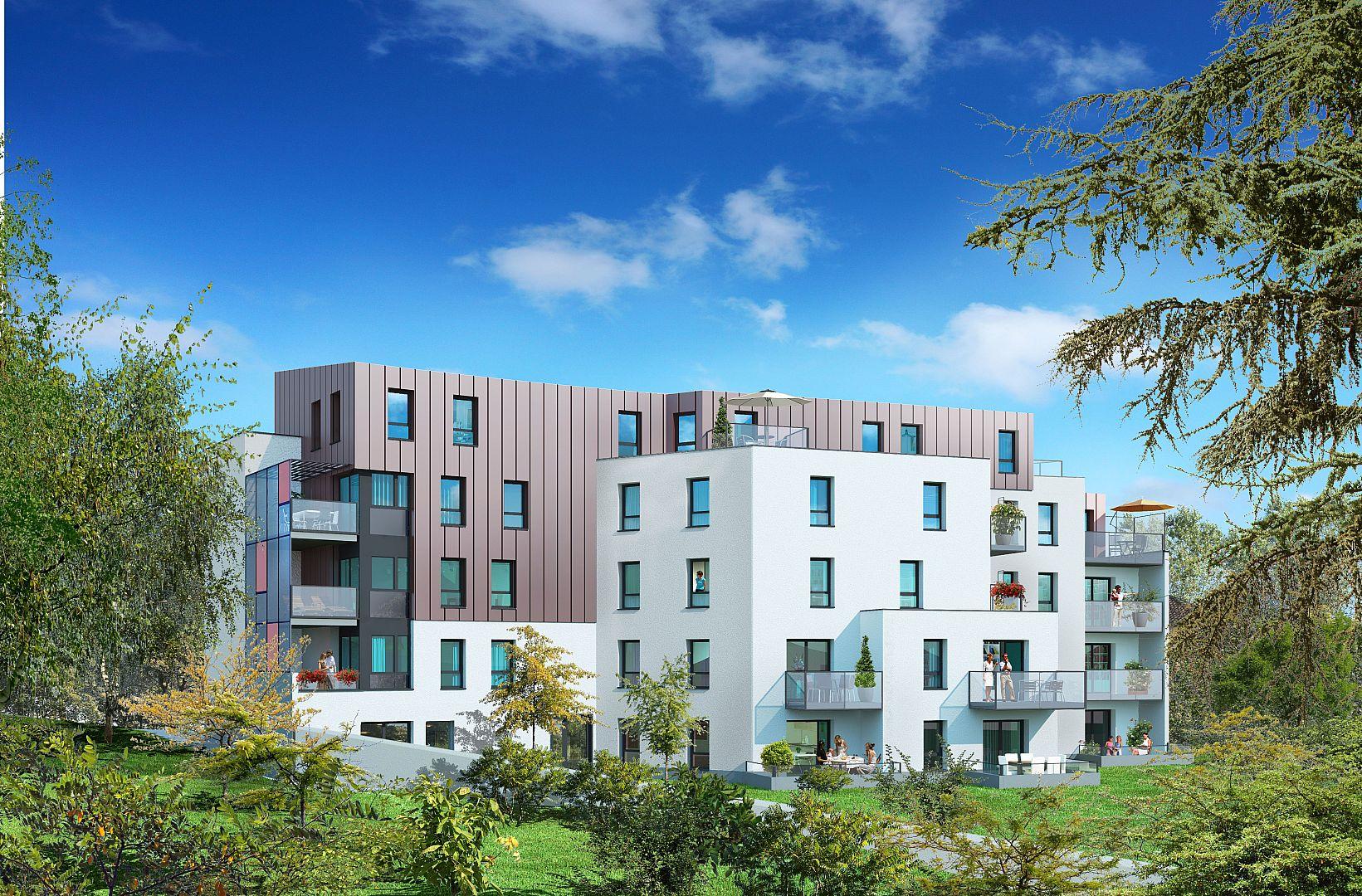 Achat appartement neuf nantes programme neuf les hauts for Vente appartement nantes terrasse