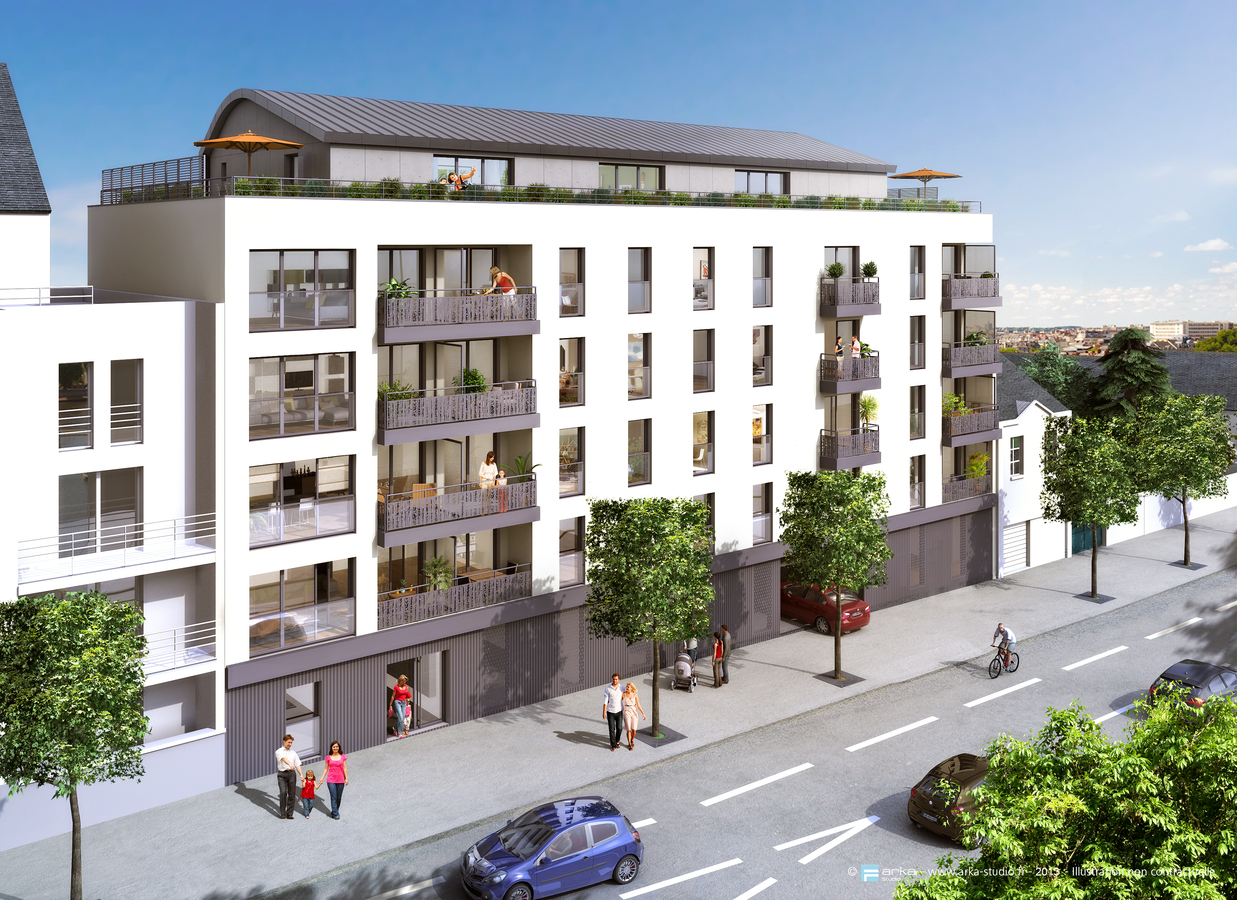Pr sentation bati nantes promoteur immobilier neuf nantes for Facade immeuble moderne